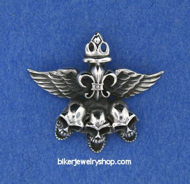 sterling silver skull wholesale wholesale biker skull wings pendant necklaces sterling