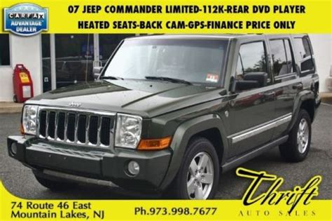 07 Jeep Commander Mpg Sell Used 07 Commander Limited 112k Rear Dvd Player Heated