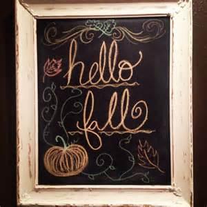 fall chalkboard craft crafting
