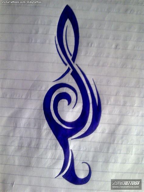 imagenes de notas musicales tatuajes dise 241 o de notas musicales