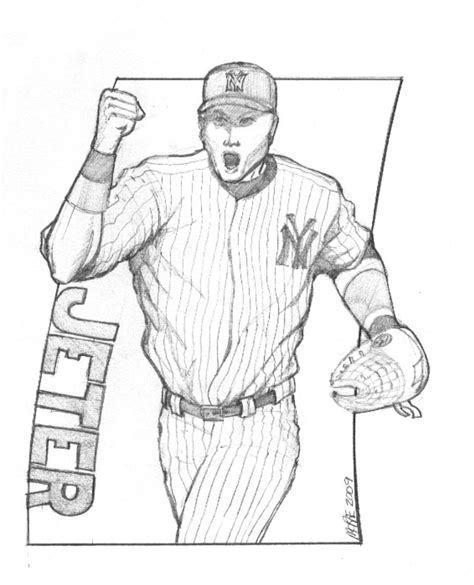 derek jeter free coloring pages