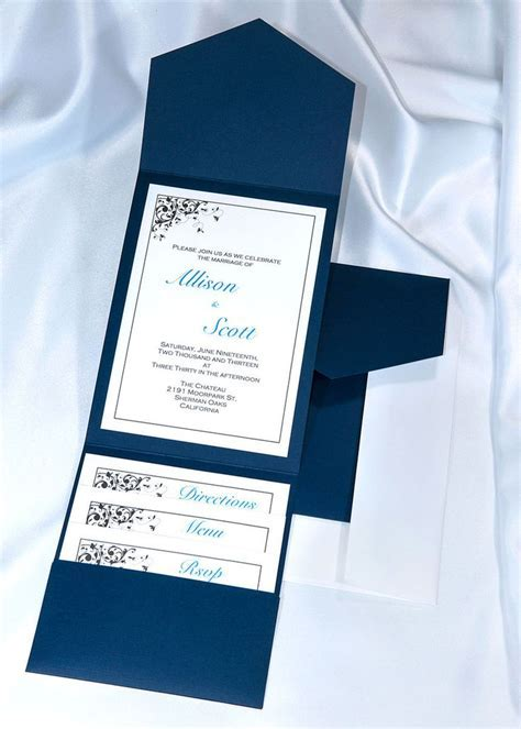 Print your own Navy Blue Wedding Invitations with our DIY