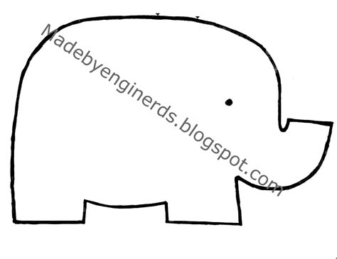 Made By Enginerds Elephant Stuffed Animal Tutorial With Pattern Stuffed Elephant Pattern Template