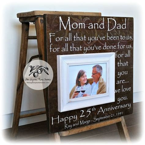 25 Wedding Anniversary Gifts by Best 25 25th Anniversary Gifts Ideas On 40th