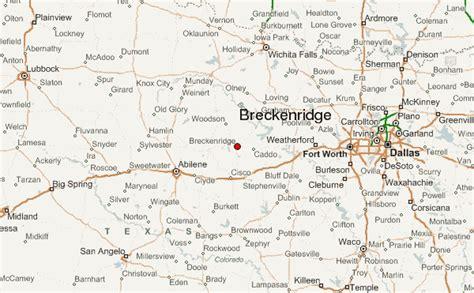 breckenridge texas map breckenridge texas location guide