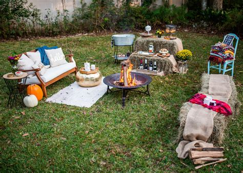 backyard bonfire party ideas how to host a friendsgiving bonfire 183 haute off the rack
