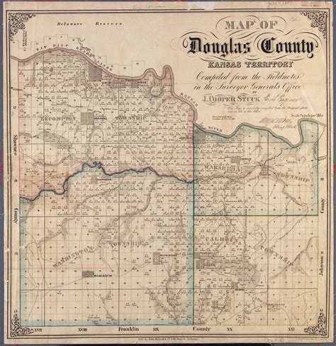Douglas County Kansas Records Map Of Douglas County Kansas Kansas Memory Kansas Historical Society