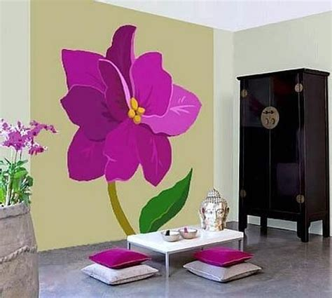 painting designs 25 ideas for decorating with flowers on walls