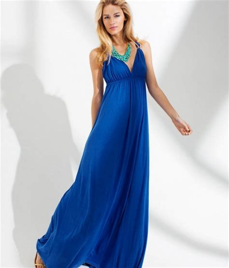 Hm Preloved Dress cobalt blue maxi dresses