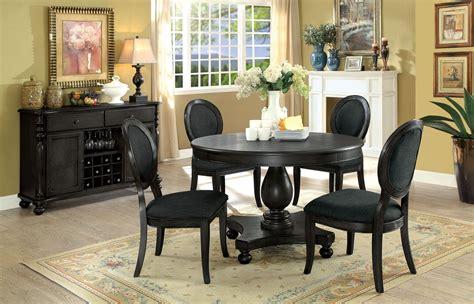 kathryn dark gray dining room set  furniture