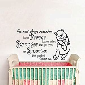 Tokomonster Winnie The Pooh 8 Quote Wall Decal Sticker Size 23 wall decals quotes winnie the pooh quote