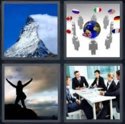level 6 the woman 4 pics 1 word answer for peak conference mountain meeting heavy com