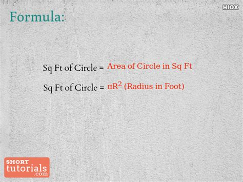 Calculating Square Footage Of House How To Calculate Square Footage Of Circle Square Feet Of