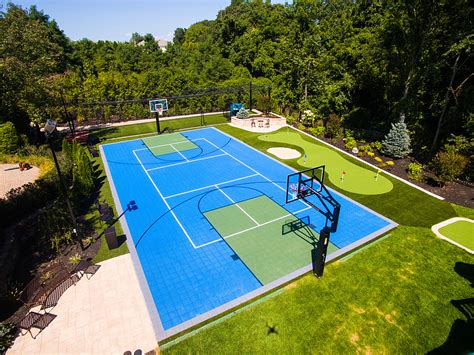 versacourt home outdoor multi sport courts