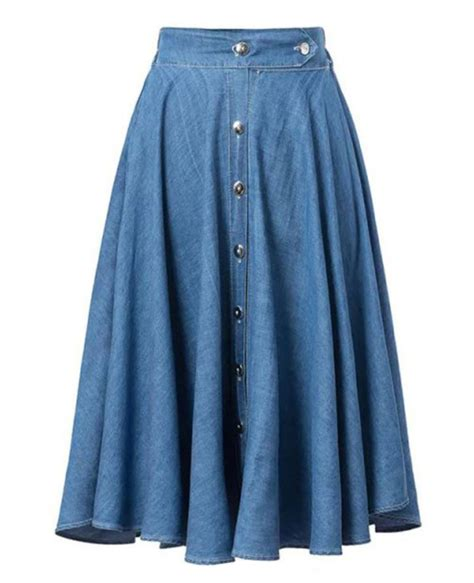 denim skirts for and knee length blue skirts