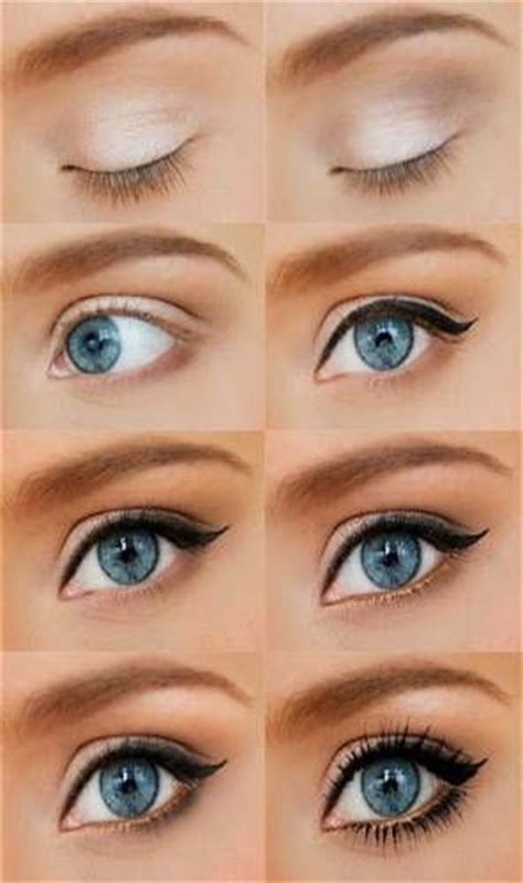 natural everyday makeup tutorial for blue eyes le maquillage yeux bleus