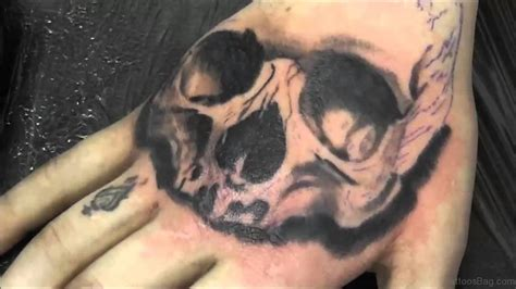tattoo for half hand 80 best skull tattoos on hand