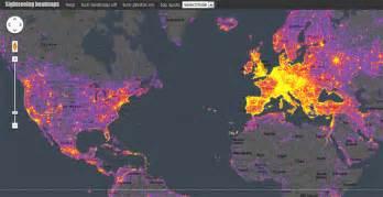 Heat World Map by Sightsmap Provides Interactive Sightseeing Heatmap