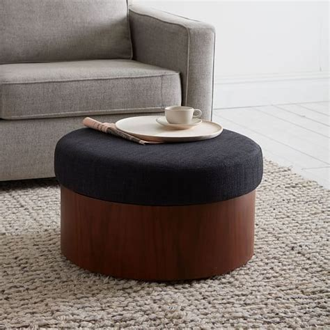 west elm chair with ottoman storage ottoman west elm