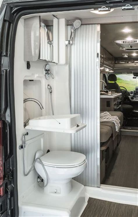 two bathroom rv travato interior bedroom and bathroom winnebago rvs