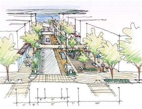 design concept guidelines pedestrian street on pier street things dromana should