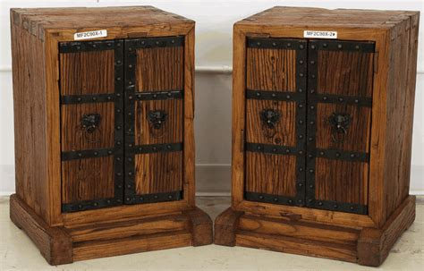 asian furniture rustic bedside cabinet from china