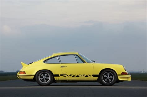 Wallpaper Porsche 911 Rs Yellow Retro Cars