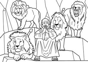 daniel and the lions den coloring activities coloring pages