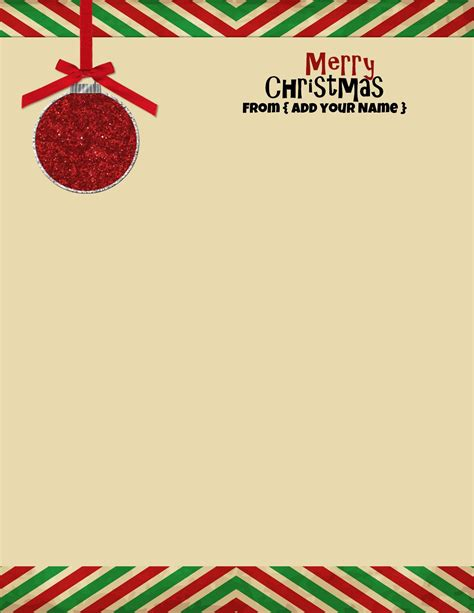 xmas stationery printable free personalized christmas stationery