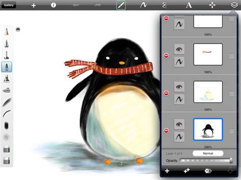 drawing tutorial sketchbook ipad draw penguins in the ipad with harmonious and sketchbook