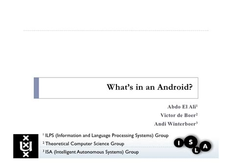 what s an android what s in an android