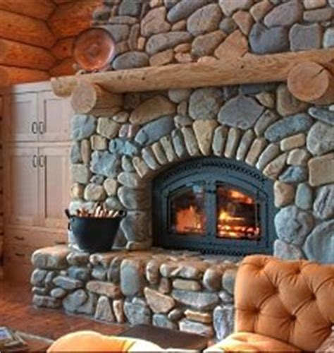 River Rock Fireplace Design by Rustic Lodge Style Places Make The Spaces