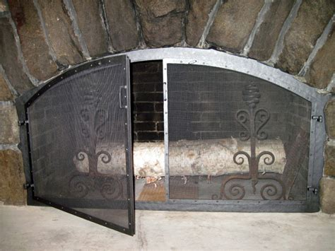 fireplace screens doors and tools