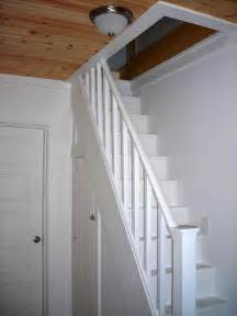 narrow stairs up to loft attic with closet underneath