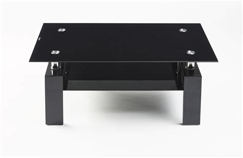 Black Gloss Coffee Tables Contemporary High Gloss Black Glass Black Legs Designer Rectangle Coffee Table