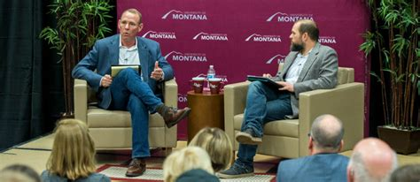Of Montana Mba by Aim S Bill Vansickle Speaks At Of Montana