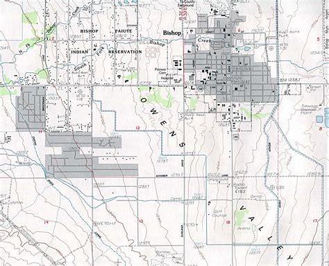 california map bishop bishop ca usgs map