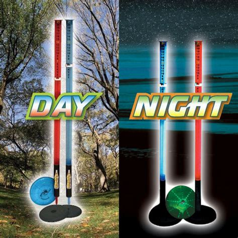 backyard frisbee games lighted deluxe poles game lighted poles lighted flying