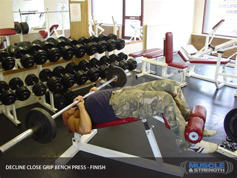 grip decline bench press decline grip bench press exercise guide tips
