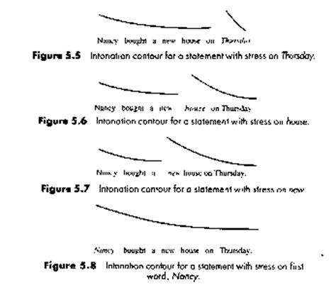 different pattern of sentences intonation