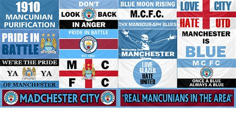 manchester city flags and banners
