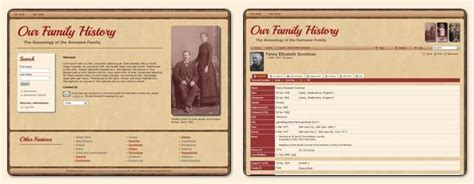 Tng10 Available Tomorrow The Next Generation Of Genealogy Sitebuilding Family Genealogy Website Templates