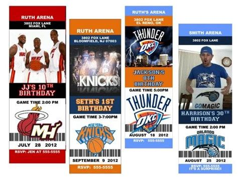 Party Tickets Ticket Invitation And Nba Basketball On Pinterest Nba Ticket Template