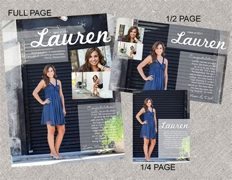 senior yearbook ad templates senior ad layouts amii wroblewski