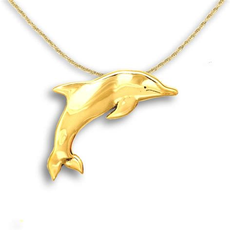 14k Gold Dolphin Pendant 14k solid gold dolphin pendant dolphin pendants