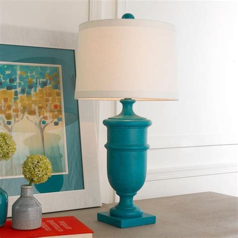 turquoise table l shades 170 best turquoise teal aqua images on pinterest glass