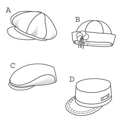 sewing pattern hat free burda 9587 hats caps