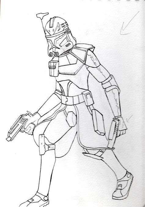 commander fox coloring page captain rex sketch by tipsutora on deviantart