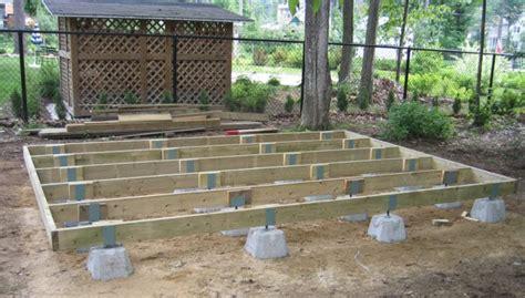 build  shed foundation  deck blocks