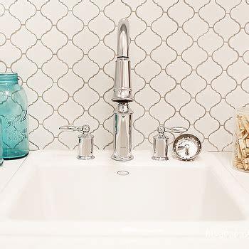Kohler Gooseneck Kitchen Faucet Merola Tile Lantern White Porcelain Mesh Mounted Mosaic